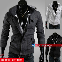 W04 Freeshipping,2013 Fashion brand Top design Winter Jackets,Casual Autumn sports coats,High quality. Plus size 3XL Dropship