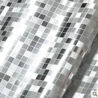 Ambilight Mosaic Waterproof  Wall paper Roll Vinyl , Glitter Silver Gold  Modern Decor Wall PVC material
