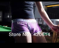 Free Shipping, New Coming Hot Sale Brand Sexy Underwear Men, Men's boxer, 12 Pcs/pack Cotton Men's Underwear, Stripe Boxer Men