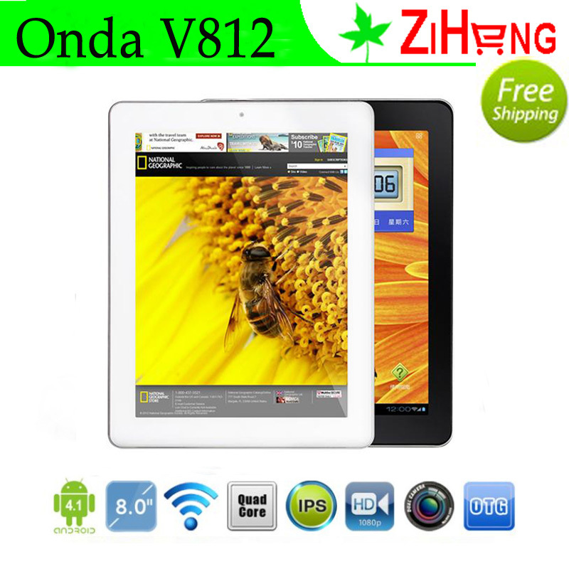 Onda V812 Tablet PC A31 Quad Core 2G DDR3 64bit 16GB ROM 5MP Camera 8 Core GPU 8'' IPS III Retina Display 1024*768 Android 4.1(China (Mainland))