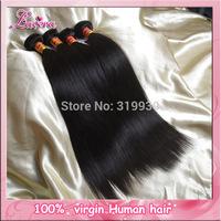 Cambodian straight Virgin hair Weft Mixed 3 pcs lot human hair weave bundles 5A Unprocessed Virgin Hair Extensions free shipping