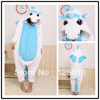 JP Anime Unicorn Cosplay Costume Kigurumi Pajamas Adult Pajamas Halloween Party Costume unisex pyjamas by0004 Pink Unicorn