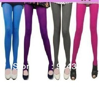new  5 colors fall spring casual velvet leggings 2pcs/lot high stretch multicolor footless ultra sheer pantyhose free shipping
