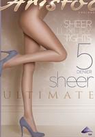 free ship 5 Denier women transparent Ultimate Sheer colored nylon Tights 6pcs/lot  in black skin grey slim girl legs