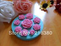 2013 new rose flower Silicone Cake Mold Decorating Gum Paste Fondant Clay Soap Mold Christmas Shape