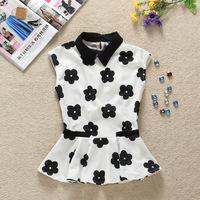 Free shipping new 2013 fashion autumn summer elegant chiffon lip blouse  t-shirt tops for women