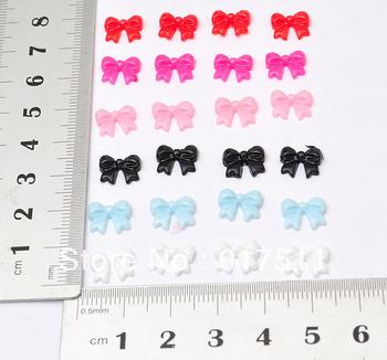 resin crafts embellishments 200PCS 9mm small bow cabochon Flatback Accessories for 3d nails art supplies diy phone Decorations