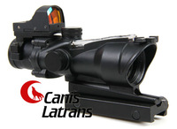 Hot Sale /Promotion 4X32 ACOG Style Scope With Red Optical Fiber CL1-0159BK