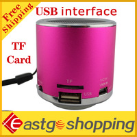 mini stereo Music player extroverted column speaker TF Card Reader  Free shipping