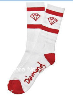 Min order is $10 Cheap 100% cotton towel huf socks diamond socks thick socks stockings attached the skates male(China (Mainland))