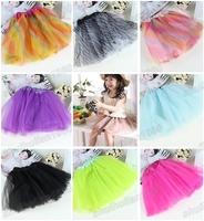 Hot Sale 1 Pc Colorful Pretty Zebra Rainbow Leopard Ballet TUTU Litter Girl Party Skirt