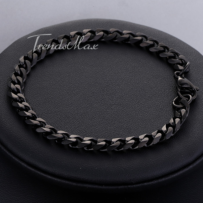 Width 3 5 7mm Length 7 11 Customized Fashion Mens Boys Stainless Steel Curb Chain