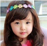 2014 New  Sunflower Bud silk Newborn kids baby headbands infant hairbands Girl's Toddler Head band Accessories Hair bands0043