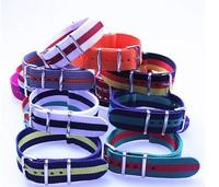 Wholesale 10pcs/lot High quality 20MM Nylon Watch band NATO waterproof watch strap colorful fashion wach band- NATO strap NEW