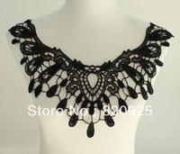 1 X Applique Black Neck Neckline Polyester Collar Venise Lace Trims Craft