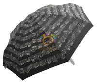 6339,Top Hot Umbrella,Black Musical Notes,8K,5-fold,Super Mini & Light,Fill with Romantic&Musical Tingle,Italy Order Stock
