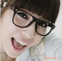 YBB Q0004 Star Models Pretty Piave Lalei Glasses Retro Classic Black-Rimmed Glasses Plain Glass Spectacles Wholesale