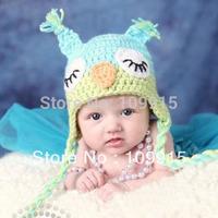 Cute Beautiful Baby Girls Boys Owls Animal Crochet Knit Woolly Cap Ear Hat For FreeShipping