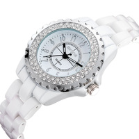 Fashion Watch Women Rhinestone Watch Luxury Brand Diamond Watches Ceramic Watches 30M Waterproof