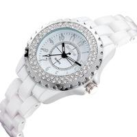 Fashion Women Rhinestone Watch Luxury Brand Quartz Watches 100% Genuine Ceramic Watches Women's Dress Watches