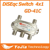 1pc Original Gecen 4x1 Satellite DiSEqC Switch Gecen GD-41C for satellite receiver with high quality Free Shipping Post