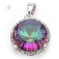 Romantic Rainbow Mystic Topaz fashion 925 Silver Pendants R736