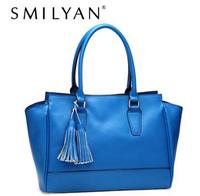Smilyan women genuine leather bag high quality handbags fashion tote bags tassel real leather shoulder bags bolsas free shipping