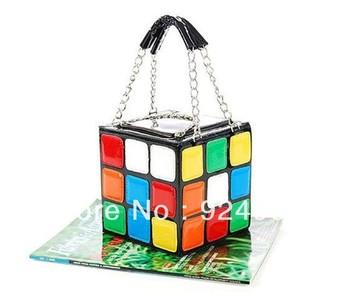 1pcs/Lot Magic Cube Bag  Designer Women Leather Handbags and dropship