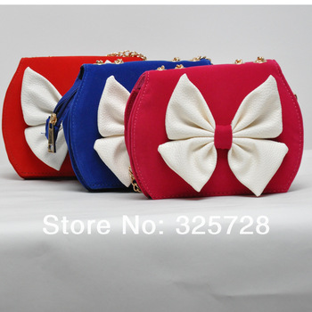 3 Pcs Baby Bags Girls Fashion kids bags Kids Red Handbags Children PU Bags Spring Bow Bags