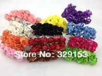 Dia.1.5cm 144pcs/bag one color Artificial paper rose  flower Gift Box Rose Flower Bouquet