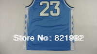 Wholesale Cheap & Top Quality #23 Michael Men's North Carolina Highest Grade Mesh Basketball Stitched Jerseys White Blue Color