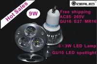 New design 9W  LED lamp led  Spotlight 10pcs/lot  AC110-250V hot sales LED bulb free shipping  Dimmable LED Light