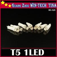 10PCS/LOT T5 Wedge W2 1LED W5W LED Dashboard Car Auto Light Bulbs 100% new brand