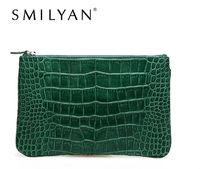 Free shipping! SMILYAN 2014 new tide crocodile hand bag fashion leather hand bag and retro packet YKK