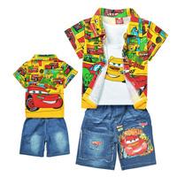 Комплект одежды для девочек Sale retail! Baby cartoon clothing sets boys girls hooded sweatshirt +jeans shorts 2013 children sports suit B056