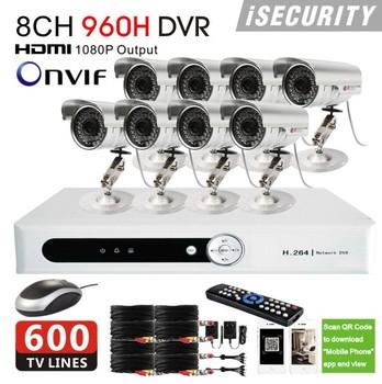 8ch CCTV System 480TVL Waterproof IR Cameras Network 960h DVR Recorder 8ch Zmodo OEM CCTV Security Camera Video System DVR Kit