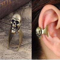 Free Shipping The Wholesale Fashion Vintage Women Skull Clip Earrings 36pcs/lot