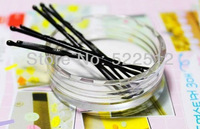 Free Shipping 300pcs/lots Black U-shaped clip hairpin /  hairpin wire clip 4.5cm medium