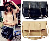 2013 New  fashion Rivets shoulder Messenger bag retro handbags  women  girl lady   free shipping BBG0341