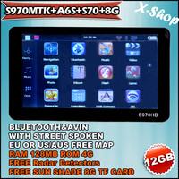 X-SHOP S970 MTK+A6S+S70+8G Bluetooth GPS navigation & RADAR DETECTOR & Sun Shade ,speedcam,TTS Russia/Belarus/Ukraine/Brazil