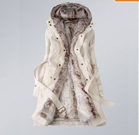 Hot Casual   women's casual winter warm long fur coat jacket fashion liner thickening overcoat trench wholesale  Products