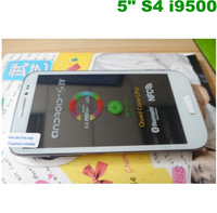 Free shipping S4 i9500 MTK6515 Cell phone 5.0 inch Android 4.1 Dual Camera  WIFI Android phones Russian menu