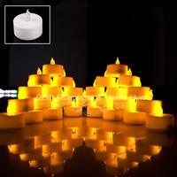 Freeshipping 30 pcs/lot LED Smokeless Flickering Battery electronic Candles Tea Light 1.5inch Christmas holiday decoration