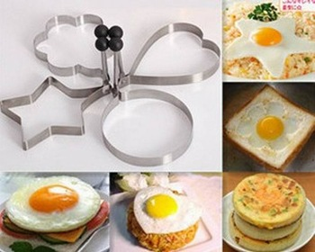 FREE shipping kitchenware baking tool set egg mold rice ball maker cookie mold biscuit mould stainless steel4pcs/set egg cutter