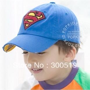 GG109 Cool Superman Child Baseball Cap Sun Hats Summer Children Hats Unisex Sports Hats