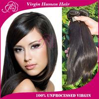 "Peruvian Virgin Hair Straight 3/4pcs Lot 8-30"" Color 1B Cheap Human Hair Weaves Straight Virgin human Hair Products freeshipping"