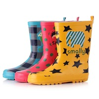 Smally child rain boots rainboots fashion male female child overstrung rain shoes eco-friendly rubber water shoes