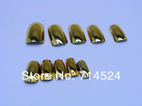 2013 Hot ,480pc/lot,Fashion Minix Nail Art 3D Decoration,Gold Silver Metallic Shiny Nail tips,sexy women finger false nail