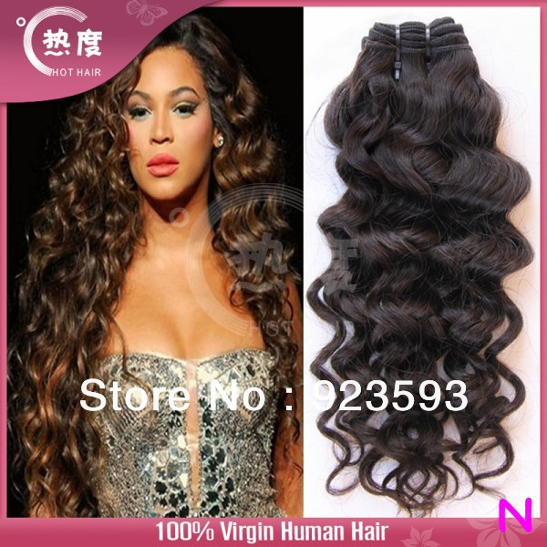 Hot selling !!! 100 Virgin brazilian hair deep wave 4pcs lot Hot hair products no tangle no shedding can dye(China (Mainland))