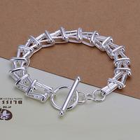 Free Shipping Wholesale 925 Sterling Silver Bracelets & Bangles,925 Silver Fashion Jewelry,Yang ladder TO Bracelet SMTH296